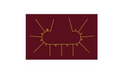 Сукно для покера Iwan Simonis 7410 Professional Texas Poker Hold`em Burgundy