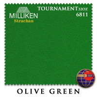 Сукно Milliken Strachan Snooker 6811 Tournament 32oz 193см Olive Green